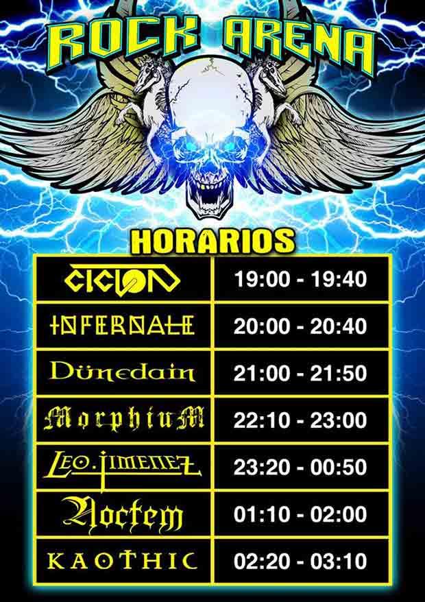 rock arena horarios